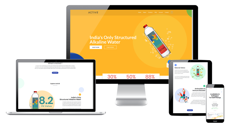 Activ 8 Web development Kolhapur by giantwheel studio